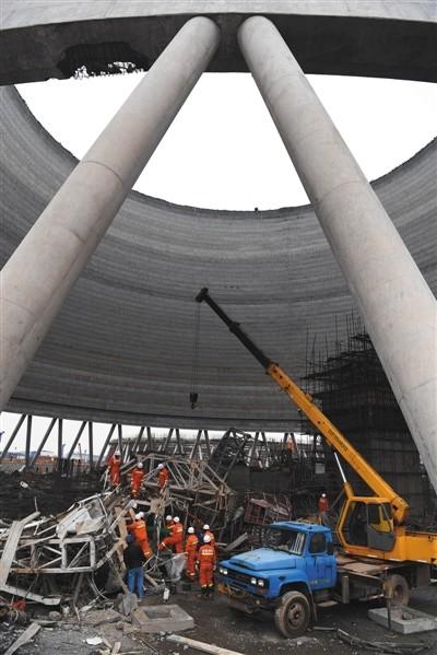 昨日,江西丰城电厂施工平台发生坍塌事故,导致74死2伤。本版图片/新华社发