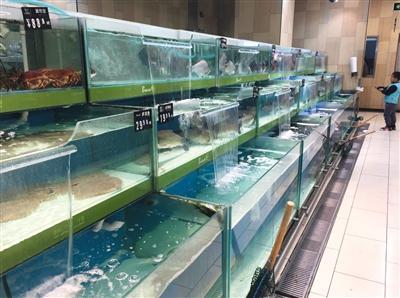 11月25日下午,永辉超市常楹天街店水产区已经恢复活鱼售卖。新京报记者 郭超 摄