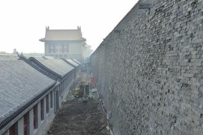 故宫城墙。