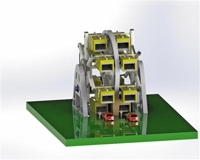 飞轮式停车机器人效果图