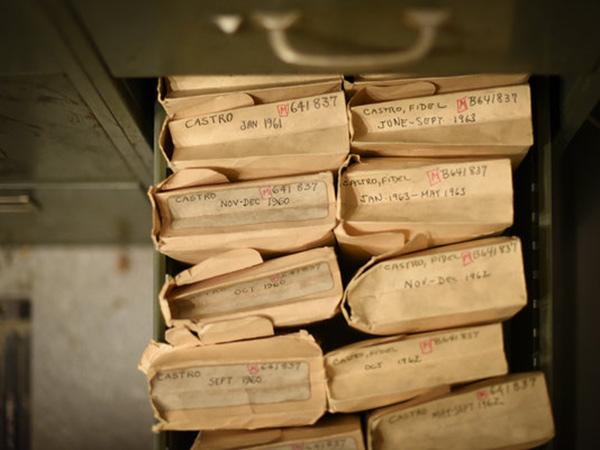 """《纽约时报》档案室,卡斯特罗的简报比任何人都多,""""除了总统、君主和教皇""""。"""