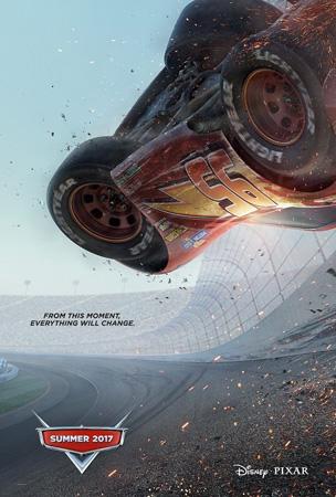 《汽车总动员3》预告海报出炉 点燃速度激情