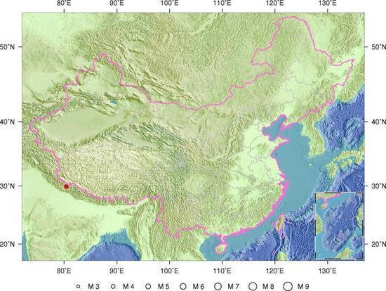 图为地震位置