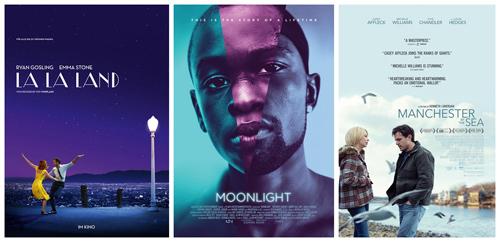 《爱乐之城》、《月光男孩》、《海边的曼彻斯特》