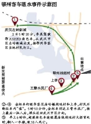 昨日,湖北鄂州市发生一起客车落水事件,事故车辆被吊出水塘。图/视觉中国