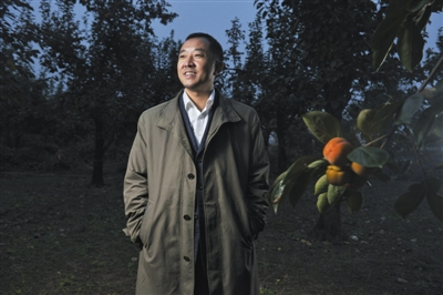 10月24日,陈行甲在北京红螺山庄。新京报记者 王嘉宁 摄