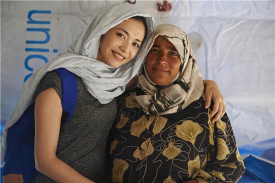 姚晨与叙利亚难民