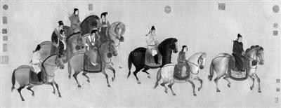 《虢国夫人游春图》临摹版 原作:唐 张萱