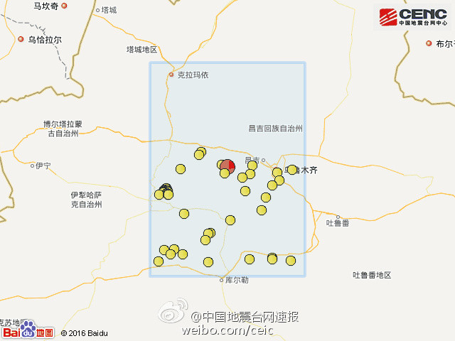 震中周边200公里内近5年来发生3级以上地震90次