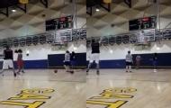 篮球教练1分投进26三分球 破纪录