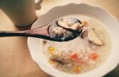 暖胃美食香菇鸡肉粥