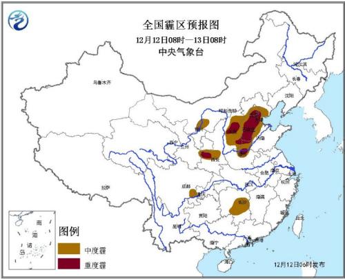 气候台续发霾橙色预警 北京南部天津西部等地重度霾