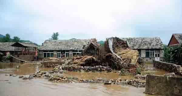 2012年8月5日,辽宁省岫岩县大隈子村受灾状况。 新华社 材料图