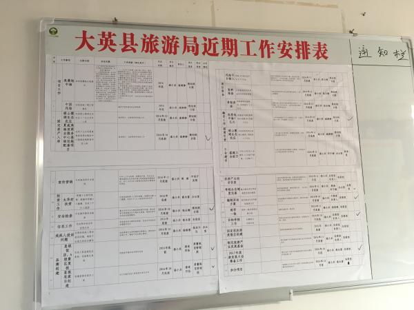大英县旅行局近期事情组织表。 磅礴股票论坛 记者 官雪晖 图