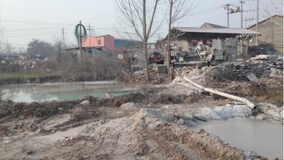 河北省沧州市厚德建材马庆军锻造厂区内炉窑排放很多黑烟