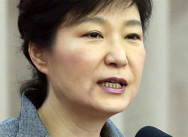 2014年5月14日,朴槿惠右嘴角的淤血痕迹变淡