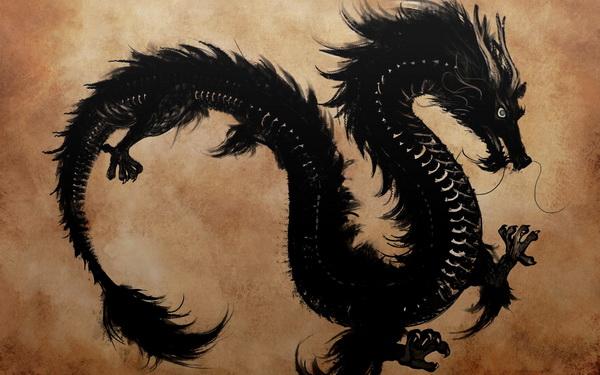 Wuxiaworld的网站背景是一条黑色的中国龙