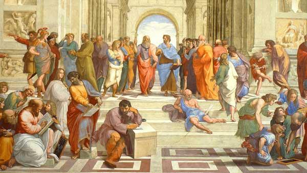 拉斐尔笔下的雅典学院(局部/临摹)
