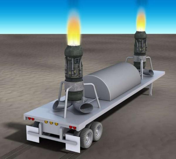 用于雾霾治理的的移动式喷气发动机的外观概念图