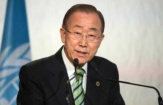 2016年11月15日,摩洛哥马拉喀什,潘基文在联合国气候大会上发言。(新华/法新)