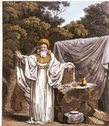 穿着法袍的德鲁伊教士