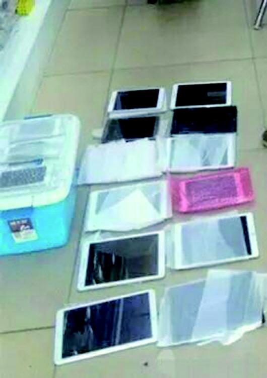 邢某盗窃的手机和平板电脑等。