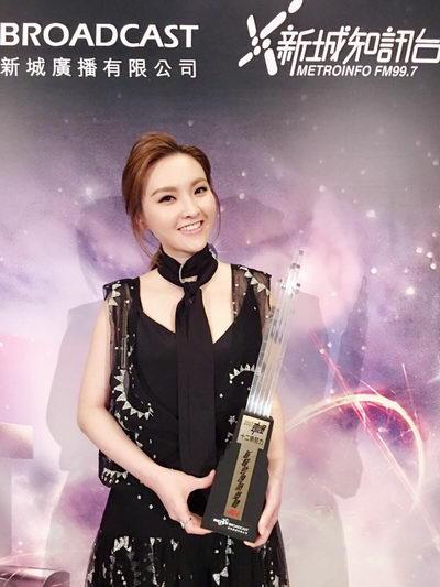 林欣彤出席香港新城颁奖礼 感恩王祖蓝