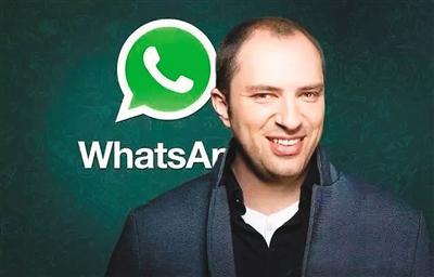 """今天来认识一下美国版""""微信""""WhatsApp的创始人简・库姆。"""