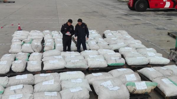 上海海关查获101包、3.1吨穿山甲鳞片