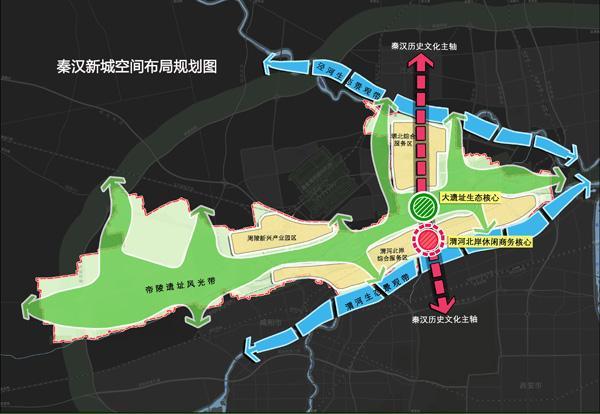 秦汉新城网站的规划图