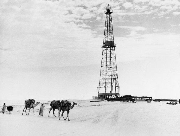 沙特阿拉伯的一处油田。王室的财富源自于70多年前在该国发现的石油