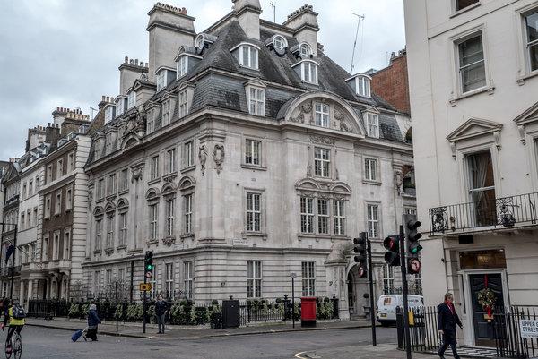"""""""巴拿马文件""""中的一份资料显示,伦敦这处房产和萨勒曼国王有关系"""