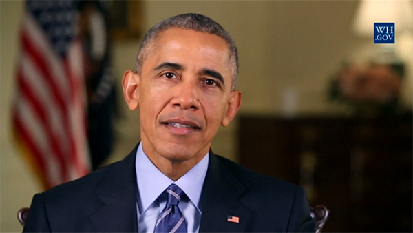 美国现任总统奥巴马也发表了新年讲话。
