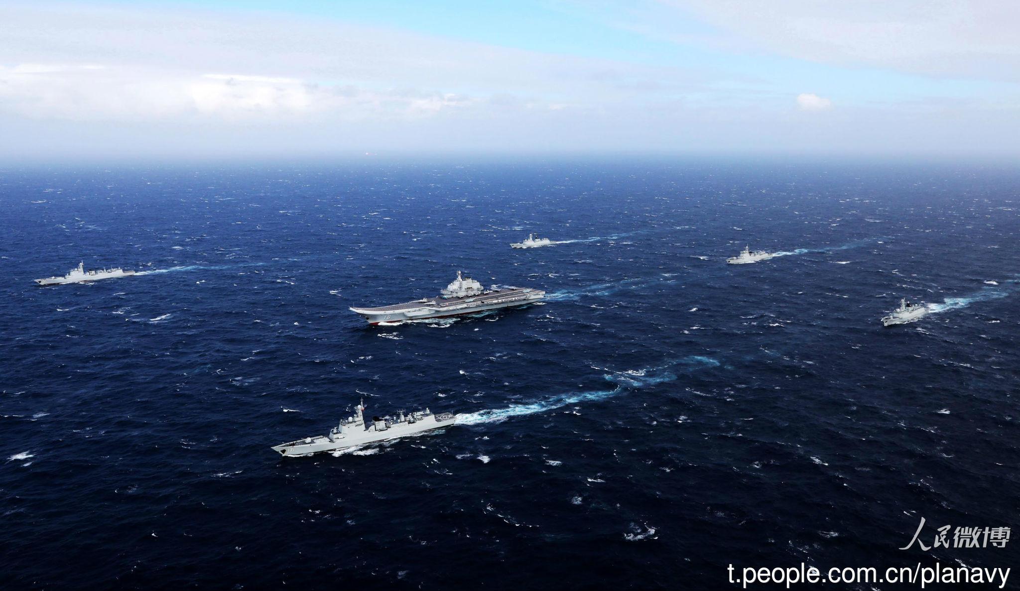辽宁舰航母编队已在南海开始训练