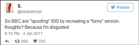 所以BBC就是以这种方式来讽刺IS吗?真恶心。