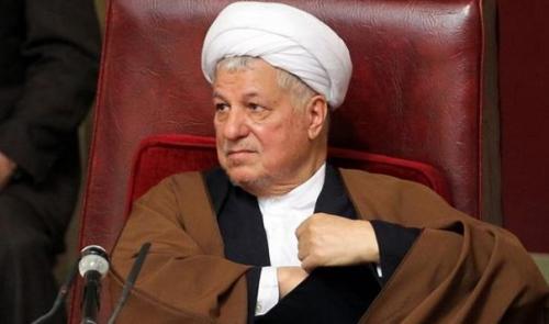 资料图片:伊朗前总统拉夫桑贾尼。法新社