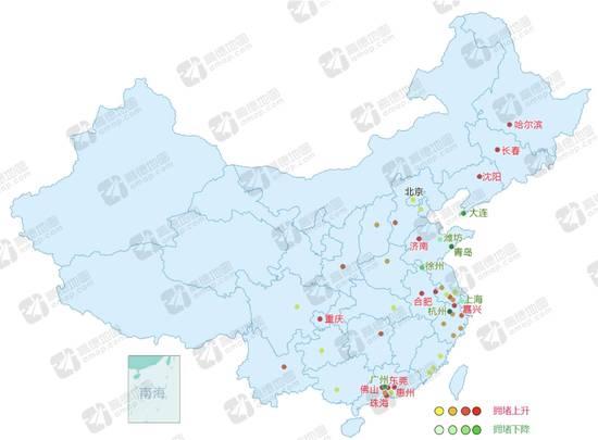 一线城市增长停滞,二线城市增长迅猛