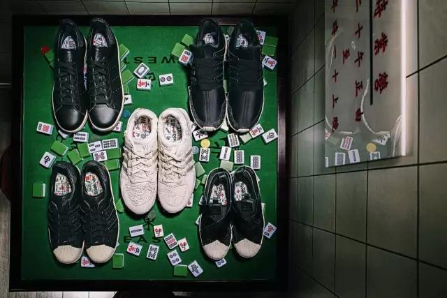 光看鞋是没什么平常,就是阿迪的一些经典鞋款。