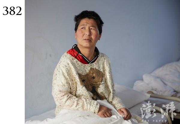 382号病人,女,约50岁。2016年4月20日,被发现于连霍高速595公里处,该病人当时言行异常,衣服脏乱。在现场,河南省高速中队四中队队员与其交流困难,无法核实身份信息。