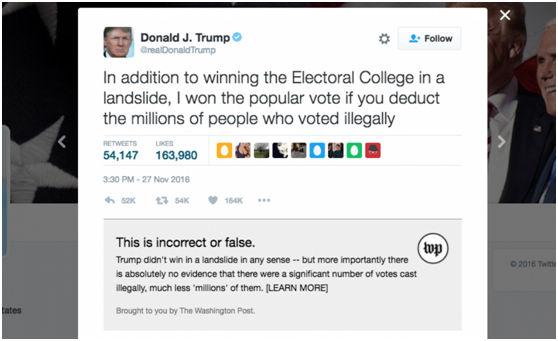华邮要用黑科技对川普的推特进行事实核查