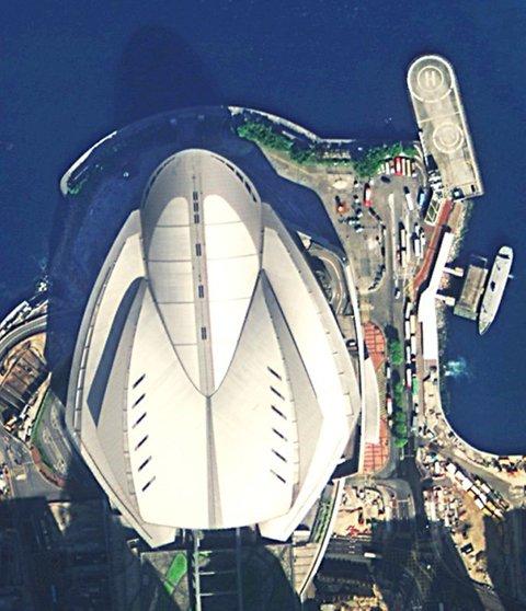 图中为香港会议展览中心。中国航天科技集团公司提供
