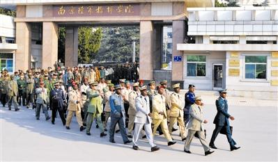 南京陆军指挥学院国际军事教育交流中心的外军学员。
