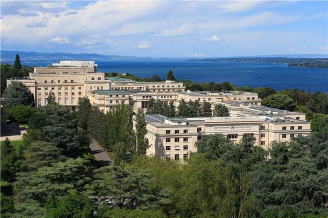 这是2016年6月17日拍摄的联合国万国宫。万国宫位于瑞士日内瓦,是联合国欧洲总部所在地。新华社记者 徐金泉