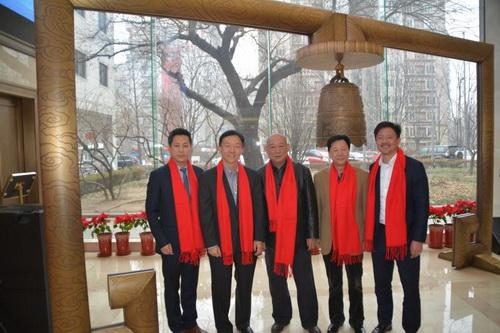左起- 海辰华CEO林涛、风和投资董事长吴炯、海辰华董事长章大初、海辰华副董事长张岩、风和投资副总裁吴宇挺