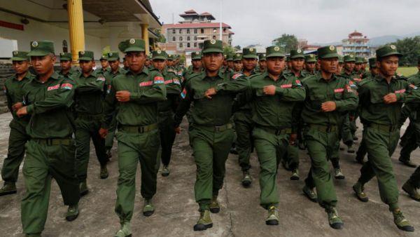 资料图:缅甸佤邦联军(UWSA)。