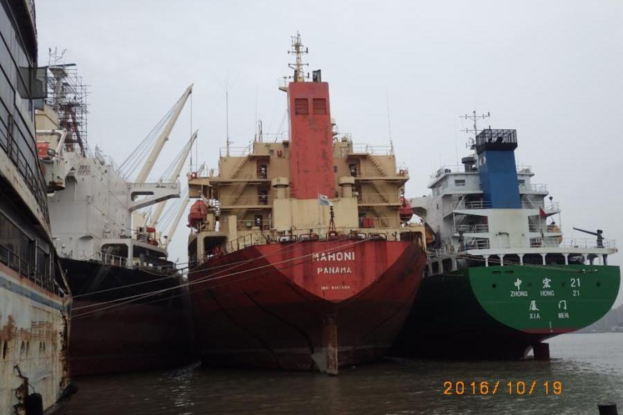 上海海事法院拍摄的船舶实景