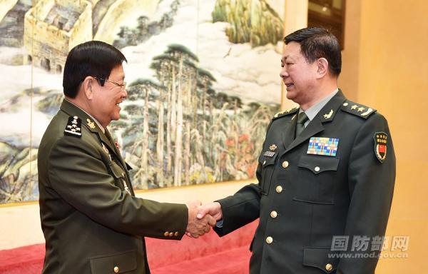1月17日上午,中央军委联合参谋部副参谋长马宜明在北京会见了来访的柬埔寨国防部副国务秘书昆武率领的柬高级军官见学团。