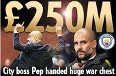 战绩不够拿钱凑!曼城豪购4巨星 总价恐超2.5亿