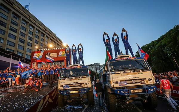 卡玛兹车队包揽2017达喀尔卡车组冠、亚军
