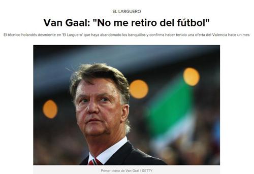 范加尔:未退休只是休息 可能回西班牙绝非巴萨
